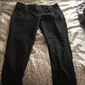 Black pull on jeans
